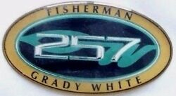 Grady White 257 Fisherman Oval Name Decal Small 2-1/2 X 1-3/8 10-0408 New Oem