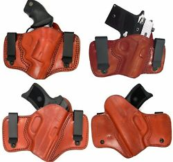 TAGUA BROWN IWB INSIDE PANTS CONCEALMENT DUAL 2 CLIP HOLSTER - Choose Your Gun!