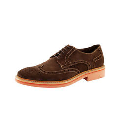 Lloyd Serge Made In Germany Mens Lace Up Wingtip Libra Suede Leather Shoes Brown