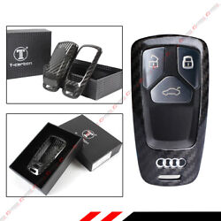 LUXURY CARBON FIBER CASE COVER FOR 2017 & UP NEW AUDI MODEL SMART KEY FOB REMOTE