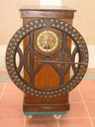Antique Vintage Time Recording Clock Dial Recorder Made In England