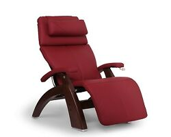 Human Touch Red Leather Pc-420 Chestnut Plus Zero Gravity Perfect Chair Recliner