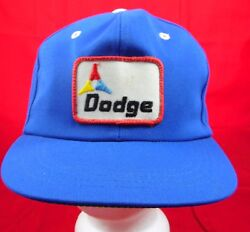 Vintage Dodge Blue With Patch Retro Awesome Snapback Hat Cap