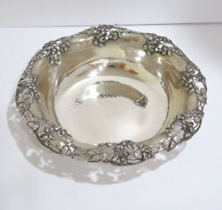 11 In - Sterling Silver And Co. Antique Floral Design Bowl
