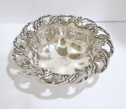 11.25 In - Sterling Silver Gorham Antique Wave Shape And Pattern Serving Bowl