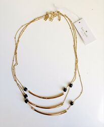 Kate Spade Strike Up The Band Small Triple Strand Necklace - With Dust Bag