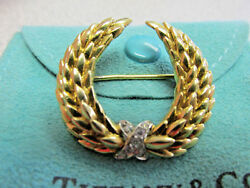 And Co 18k Gold And Diamond Victory Wreath Brooch Or Pin Make Offer