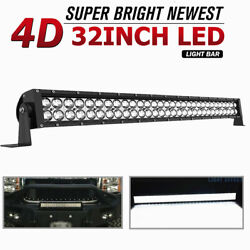 420w 32inch Led Light Bar Spot Flood Combo For Jeep Tractor Atv 4wd Offroad 34''
