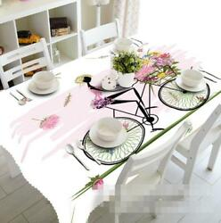 3d Bike Girl 6 Tablecloth Table Cover Cloth Birthday Party Event Aj Wallpaper Au