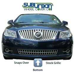 One 2010-2012 Buick Lacrosse Gi/83 Chrome Plastic Lower Grille Insert Snap On