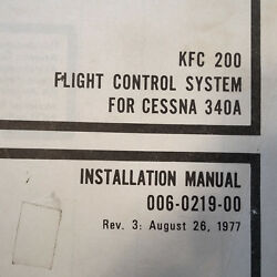Kfc 200 In Cessna 340a Install Checkout And Adjustment Manual