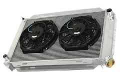 For 79-93 Ford Mustang 3 Row Aluminum Racing Radiator+10 Fans