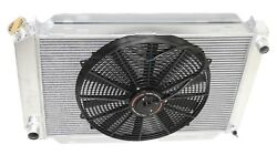 For 79-93 Ford Mustang 3 Row Aluminum Racing Radiator+16 Fans