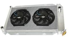 For 10 Fans Fits For 71-73 Ford Mustang V8 Mt Aluminum Racing 3 Row Radiator