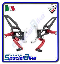 Ducati 1299 Panigale / S 2015 Cnc Racing Adjustable Rear Sets Red