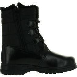 Totes KARLA Womens Black Waterproof Side Zip UpLace Up Boots