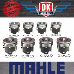 Ford Powerstroke 6.0l - 2004-2010 - Mahle Piston Set 8 - Std - Without Rings