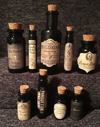 Small Apothecary Potion Bottles Harry Potter Decorations Prop Knockturn Alley