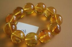 Genuine Baltic Amber With Inclusions Of Fossil Insects In Each Round  Beads