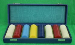 Abercrombie And Fitch Bakelite 397pc Poker Chip Case