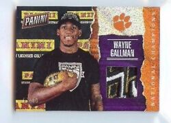 WAYNE GALLMAN 2017 PANINI DAY NATIONAL CHAMPS RAIN 910 HAT PATCH CLEMSON GIANTS