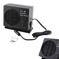 Portable DC 12V Auto Car Adjustable Ceramic Fan Heater Heating Window Defroster