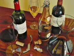 """Thomas Arvid """"life's Pleasures"""" Wine Art Signed And Numbered Canvas 42.5 X 32"""