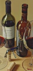 Thomas Arvid Andldquoperfect Balance Wine Art - Signed And Numbered Canvas - 20 X 43