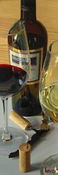 """Thomas Arvid """"uplifting"""" Wine Art - Signed And Numbered Canvas - 15.5 W X 46 H"""