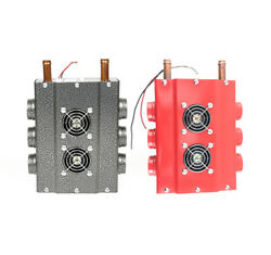 12V Heater Heat Fan wSpeed Switch Set Universal Double Side Iron Compact Heater