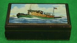 Frank Vosmansky For Abercrombie And Fitch Tugboat Cigarette Box
