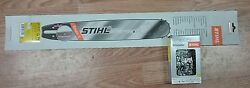 Stihl 20 Chainsaw Rollomatic Es Bar And Chain Combo 3/8 .050 72 Dl 3003 000 8822