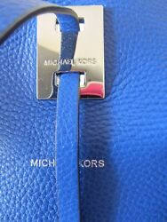 MICHAEL KORS COLLECTION Authentic MIRANDA Tote Bag Leather Satchel BLUE Sold Out
