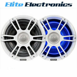 Fusion Sg-fl88spw 8.8 330w Marine Sports Grill White Speakers W/ Led's
