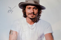 Johnny Depp Autographed Signed Sexy 24x36 Canvas Poster Photo