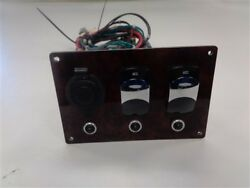 Forest River Accessory Switch Panel W / 12 Volt Socket Faux Wood Grain Boat