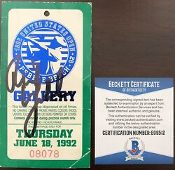 Phil Mickelson Signed Professional Golf Debut Ticket Beckett Coa 1992 Us Open