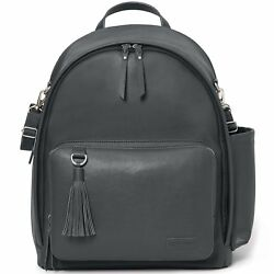 Skip Hop Greenwich Simply Chic Diaper Backpack Smoke