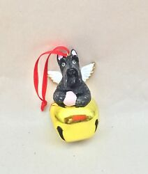 Christmas ornament jingle bell and  Scottish Terrier Scottie