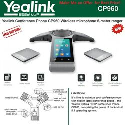 Yealink Cp960 Bundle With 2 X Cpw90 Wireless Micand039s And 1 X Ylpoe Injector-open Box