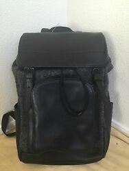 $595 NWT COACH Men's Henry Wool & leather Backpack F55405