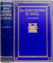 RARE 1stEd 1913 SECRET DOCTRINE IN ISRAEL ZOHAR KABAL COSMOLOGY OCCULT SCIENCES