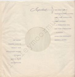 Vintage Inner Sleeve Or Sleeves 12 Use Emitex Made England Tissue-lined W X 1