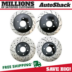 Front And Rear Drilled Slotted Disc Brake Rotors Set Of 4 For Nissan Murano 3.5l