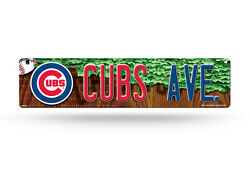 Chicago Cubs Avenue Team Logo Wall Display 4 X 16 Street Sign Decoration