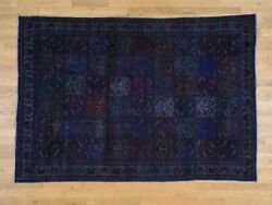 6and0391and039and039x8and03910and039and039 Hand Made Overdyed Persian Bakhtiari Garden Design Worn Rug G38322
