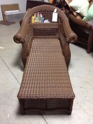 Frontgate Charleston Wicker Outdoor Chaise Lounge Chair Without Cushion 1700