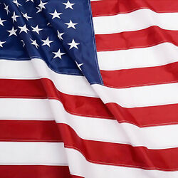 Anley EverStrong American US Flag Heavy Duty Nylon Embroidered USA Banner Flags