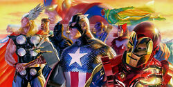 Classic Comic Book Style Artwork Marvel The Avengers Fine Art Canvas Alex Ross