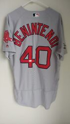 Andrew Benintendi Game Used And Signed Jersey 2016 Rookie Postseason Red Sox Jsa